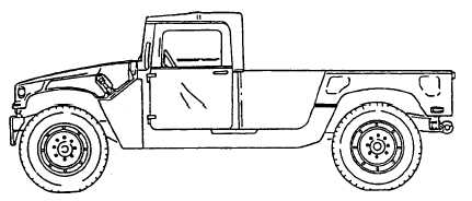 M1097/M1097A1/M1097A2/M1123 (WITH 2-MAN SOFT TOP INSTALLED