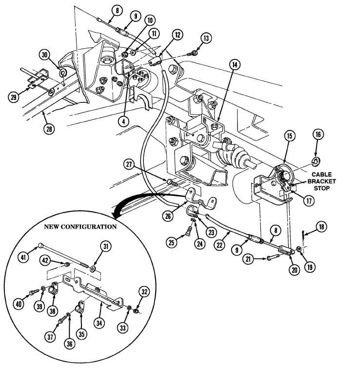 LEFT PARKING BRAKE CABLE/MOUNTING BRACKET REPLACEMENT FIG