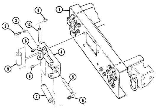 FAIRLEAD ROLLER BRACKET ASSEMBLY REPLACEMENT
