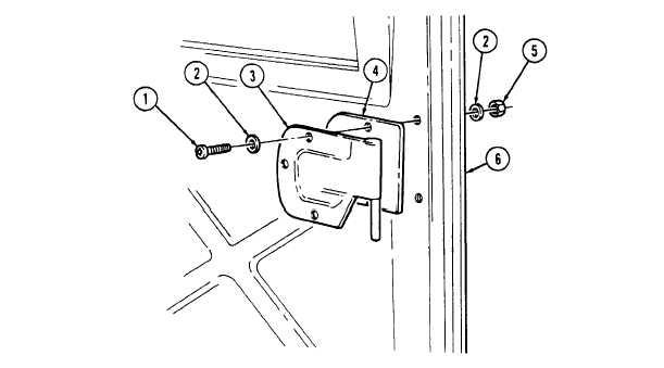 BALLISTIC CREW DOOR HINGE REPLACEMENT