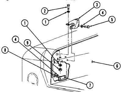 CARGO SHELL DOOR GAS SPRING MOUNTING BRACKET REPLACEMENT