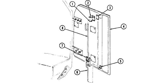 REAR DOOR LATCH ASSEMBLY AND GUIDE REPLACEMENT