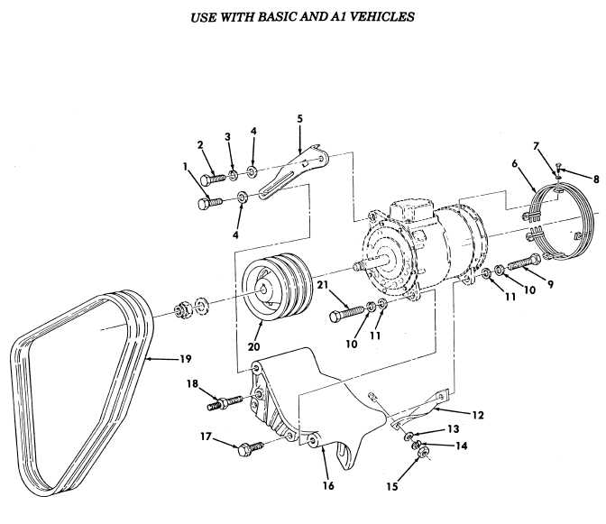 200 AMP Alternator Assembly, Belts, Pulley, Guard, and