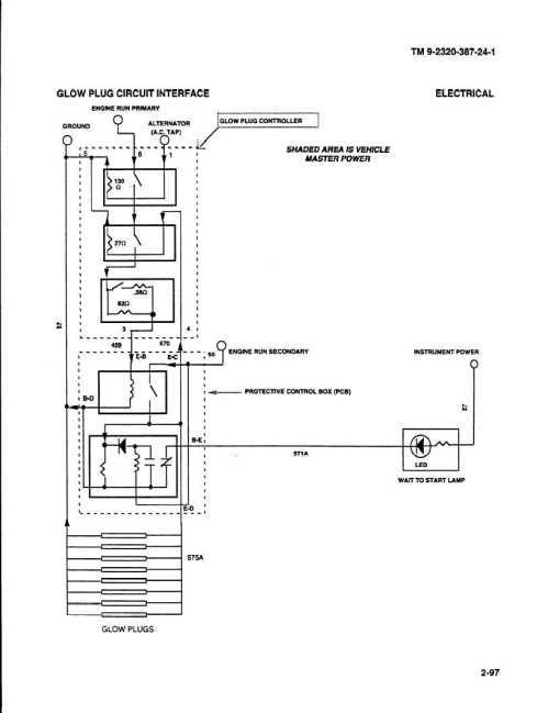 small resolution of circuit diagram glow plug control