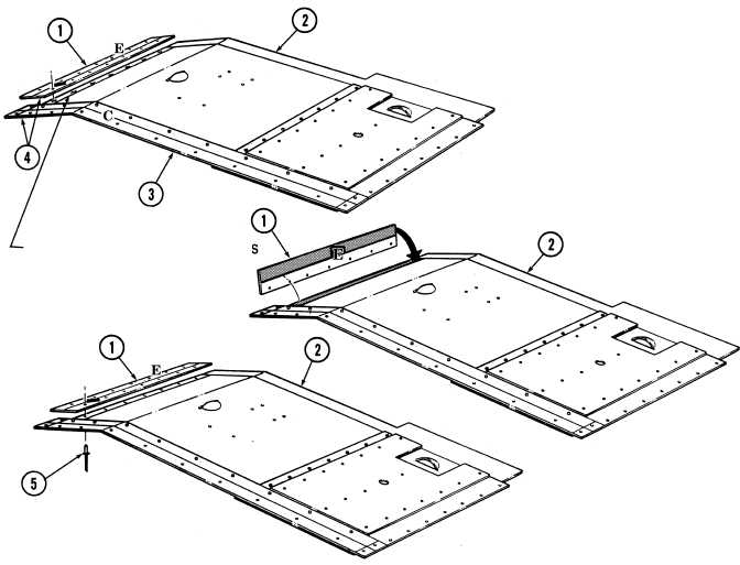 h. Metal Strip E and Insert Panel Assembly