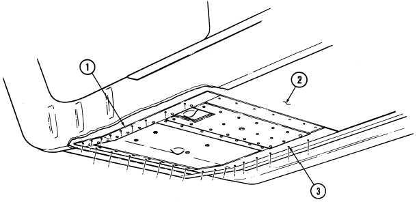 j. Right Rear Floor Panel and Insert Panel Drilling