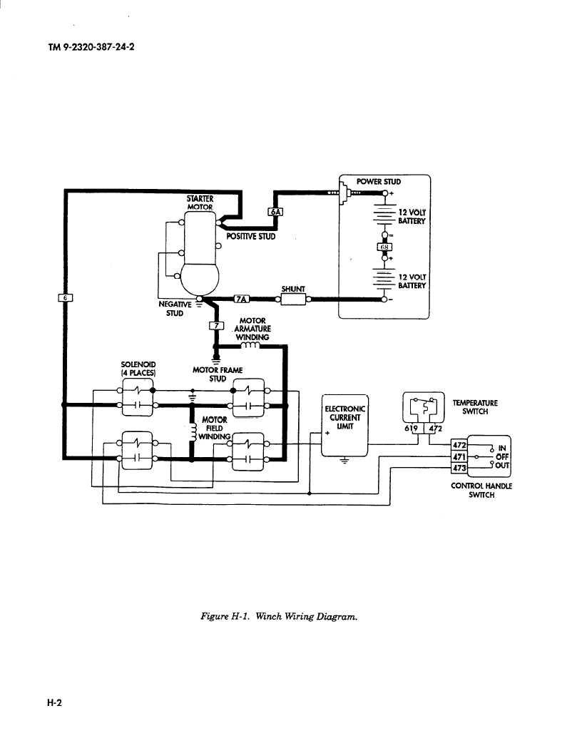 latching contactor wiring diagram kenwood head unit figure h-l. winch diagram.