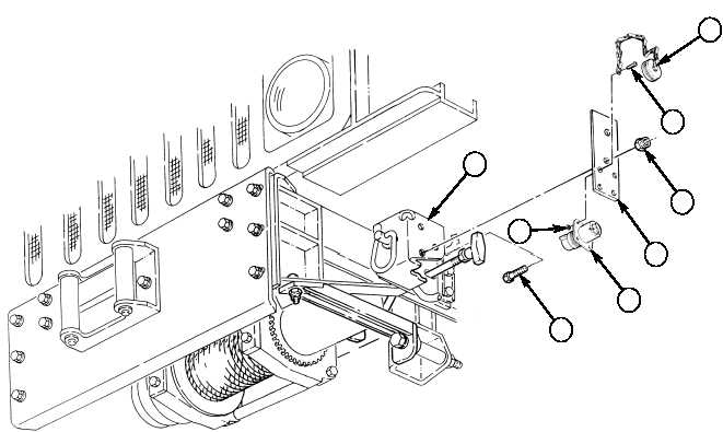 12-32. FRONT WINCH RECEPTACLE BRACKET REPLACEMENT