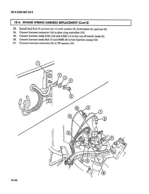 small resolution of 6 9 glow plug wiring harness