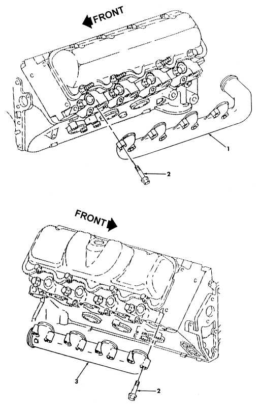 Figure 14. Exhaust Manifolds (6.5L Turbo)