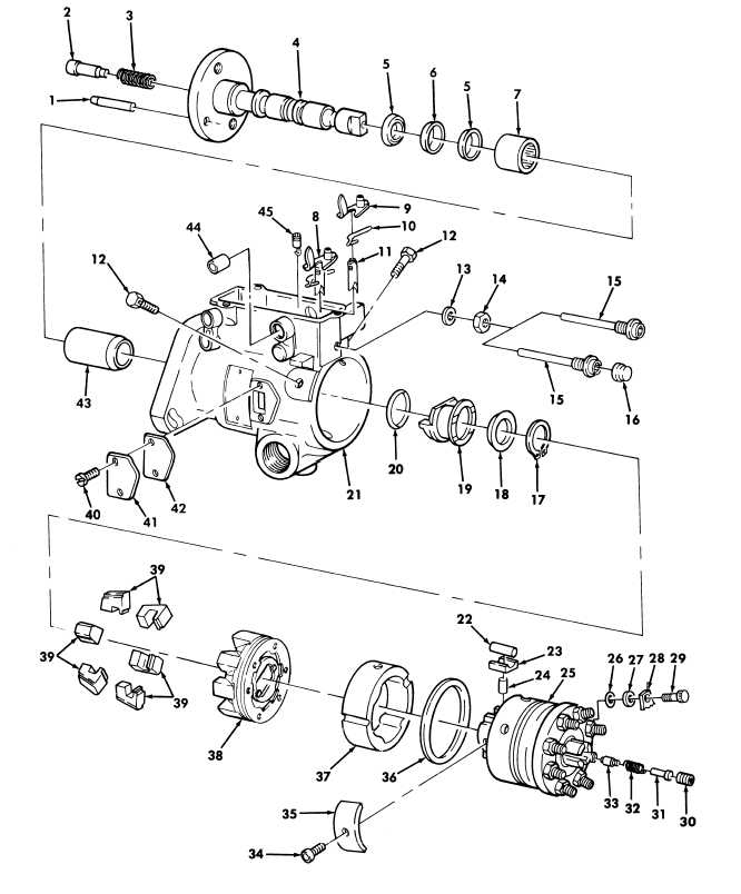 Figure 22. Fuel Injection Pump Housing, Head and Rotor