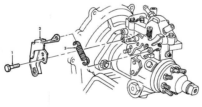 Figure 25. Accelerator Cable Bracket and Idle Spring