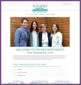 Sound Northwest Tax Services, a Website Designed by Hummingbird Marketing Services