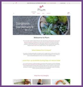 Plum, an e-Commerce Website Designed by Hummingbird Marketing Services