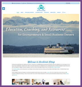 Accelerate Kitsap, a Website Designed by Hummingbird Marketing Services