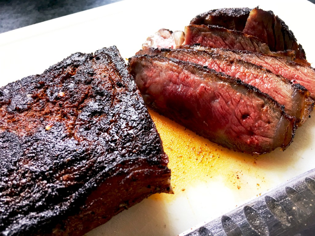 Coffee-rubbed New York Strip