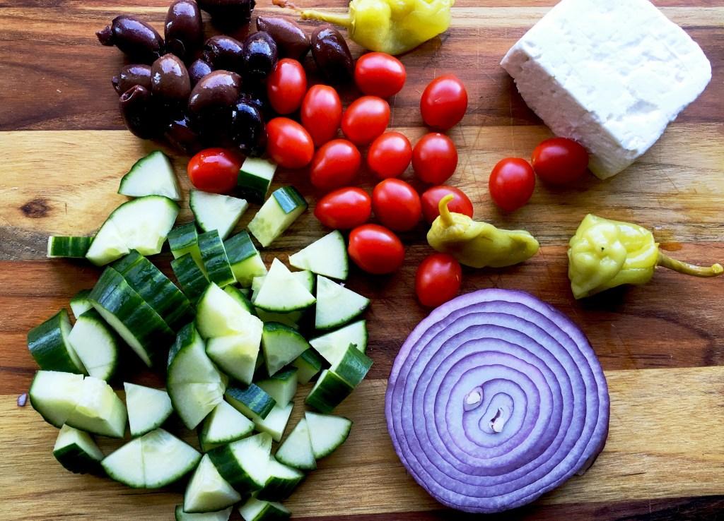 Greek Gyros ingredients