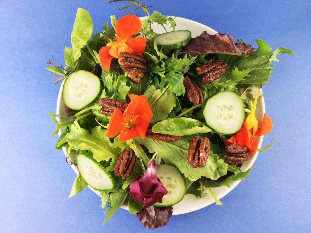 Sweet/Salty Pecans on Salad