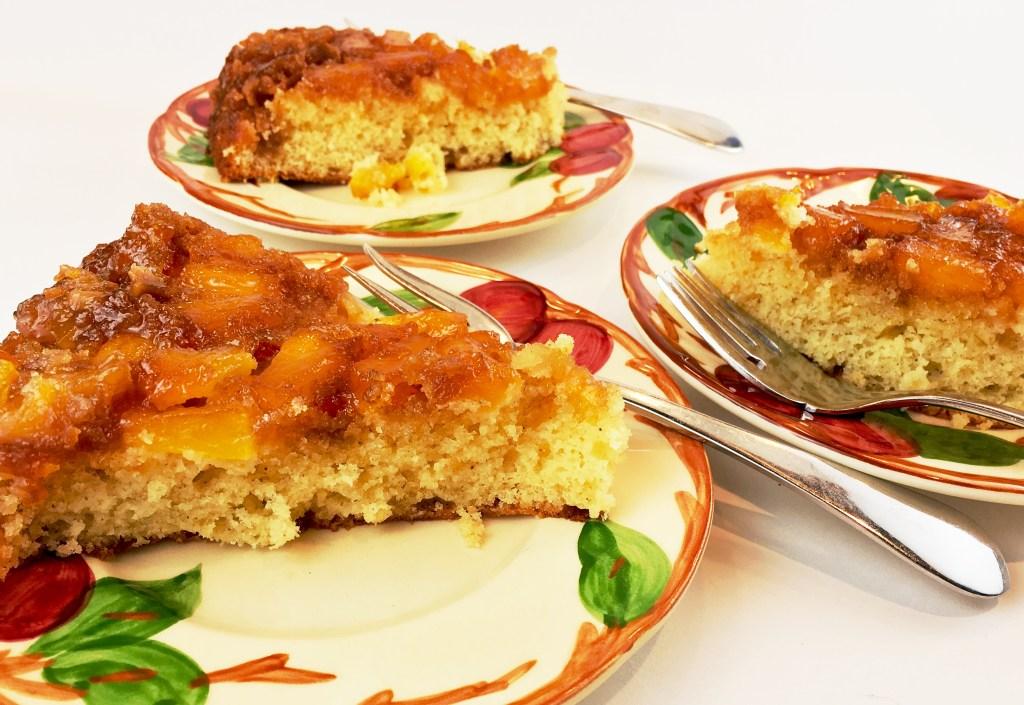 Pineapple Upside Down Cake slices