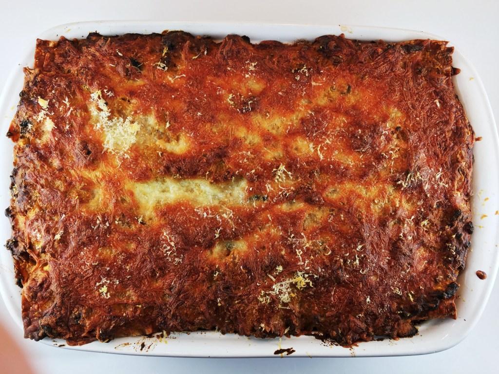 Lasagna with Sausage and Pumpkin