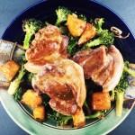 Pork Shoulder Pineapple and Roasted Broccoli