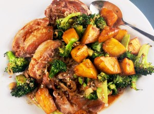 Pork with Pineapple and Sesame Broccoli