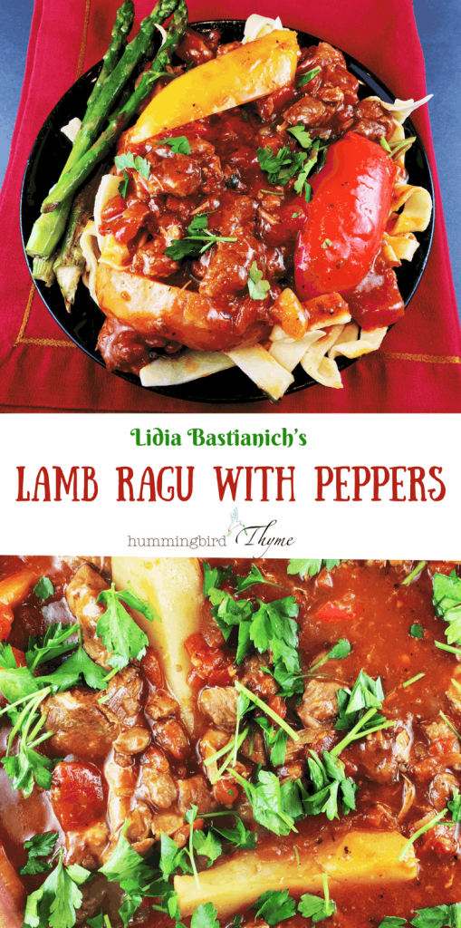 Lamb Ragu with Peppers