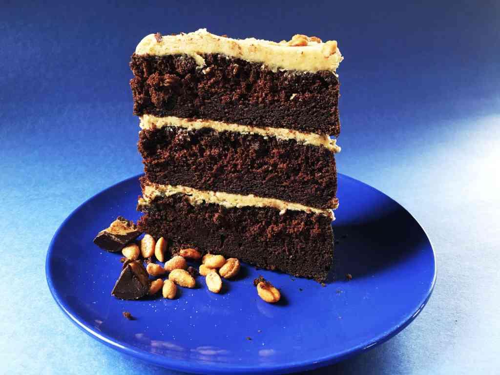 Dark Chocolate Peanut Butter Cake