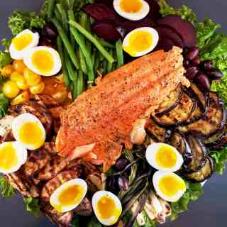 Grilled Nicoise Salad Salmon