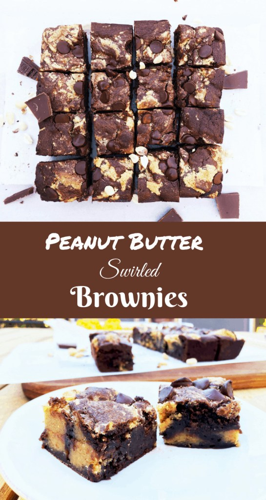 Peanut Butter Swirled Brownies