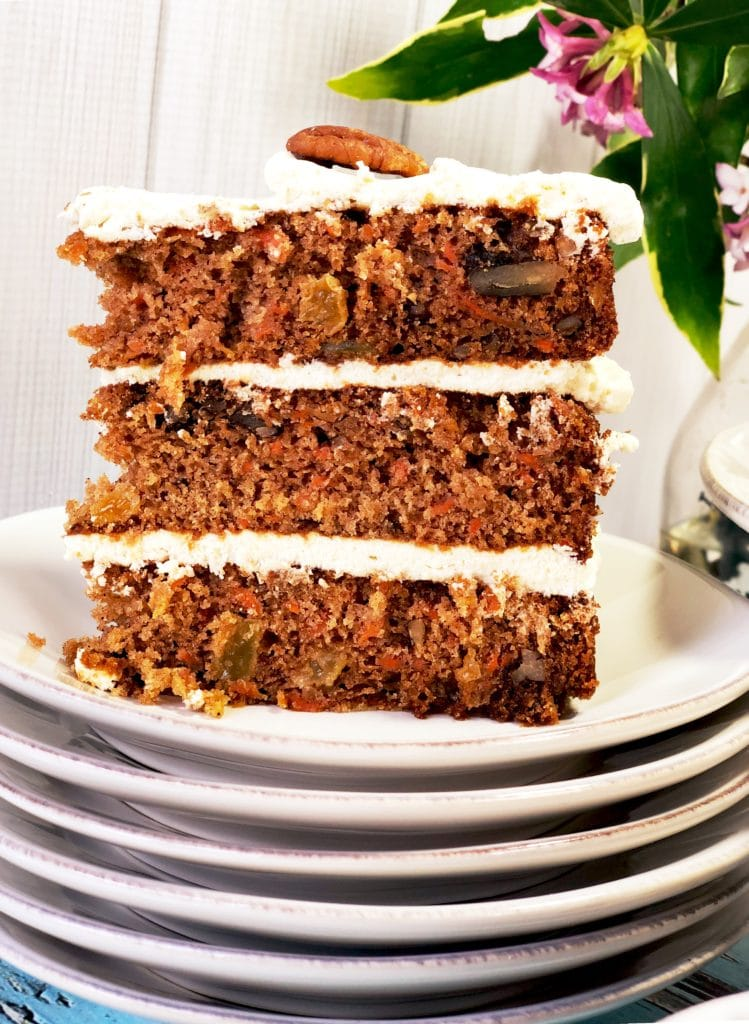 Triple Layer Carrot Cake Slice