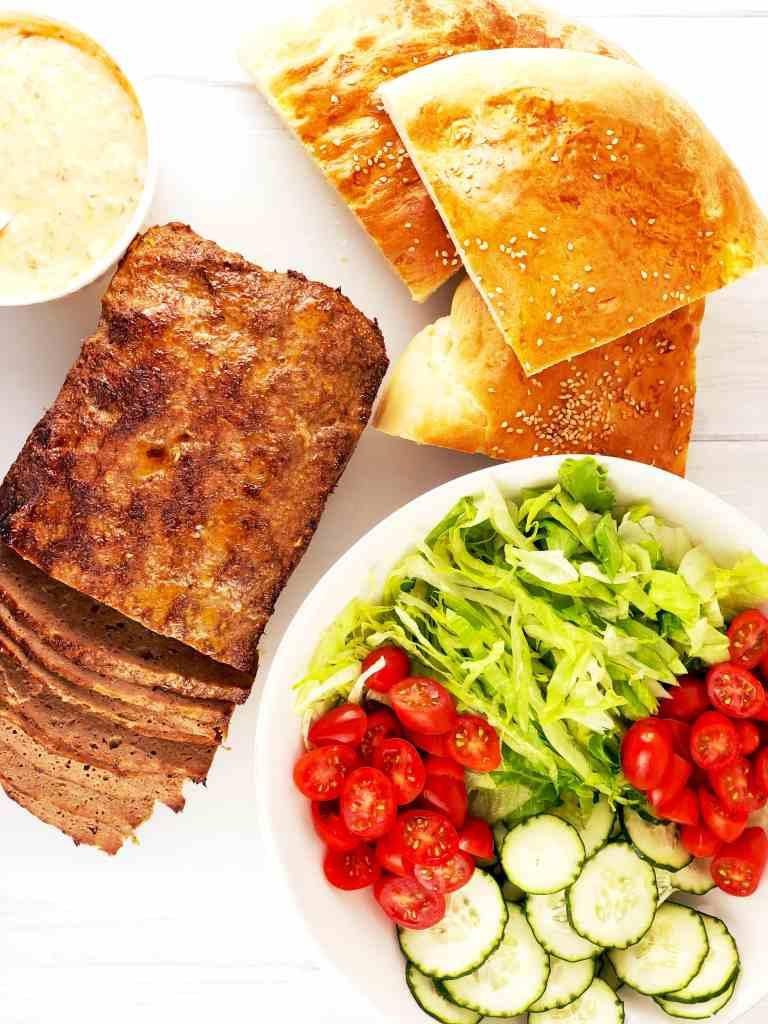 Doner Kebab with Lamb and Pita