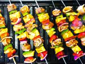 Grilled Hawaiian Chicken Bacon Pineapple Skewers