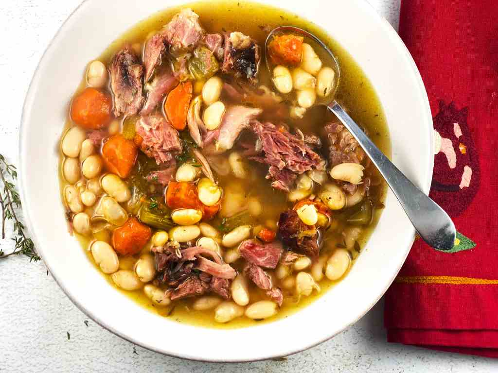 Ham Shank and White Bean Soup