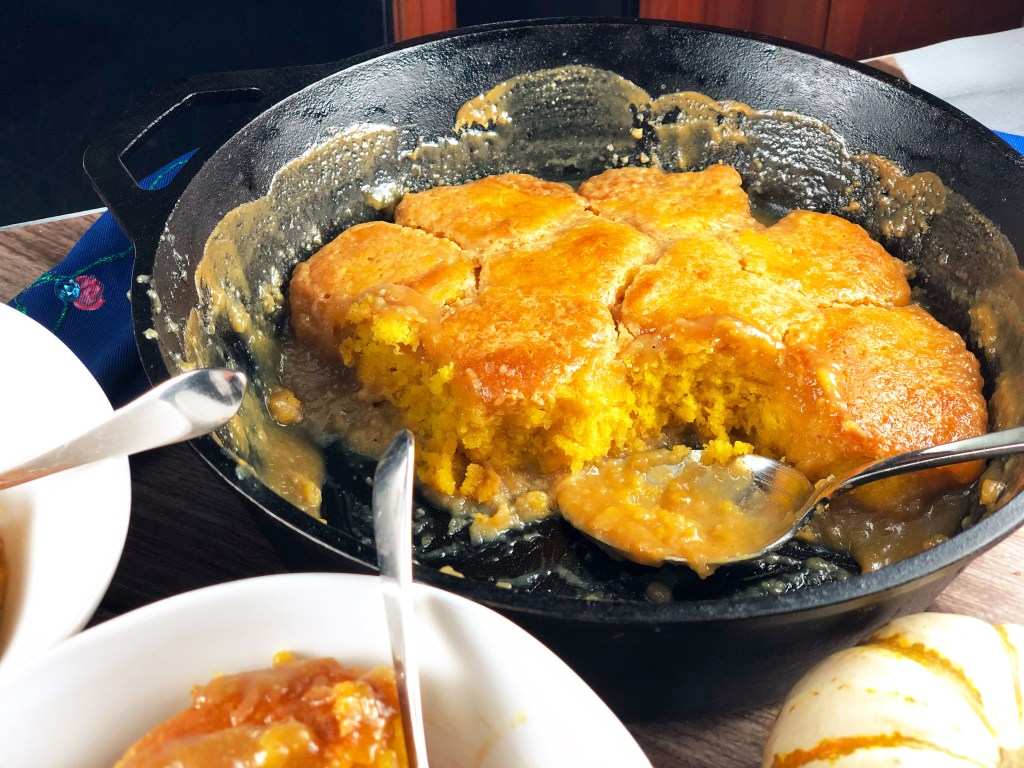 Maple Pudding Cake with Pumpkin