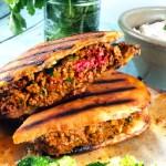 Lamb-Stuffed Pita Sandwich