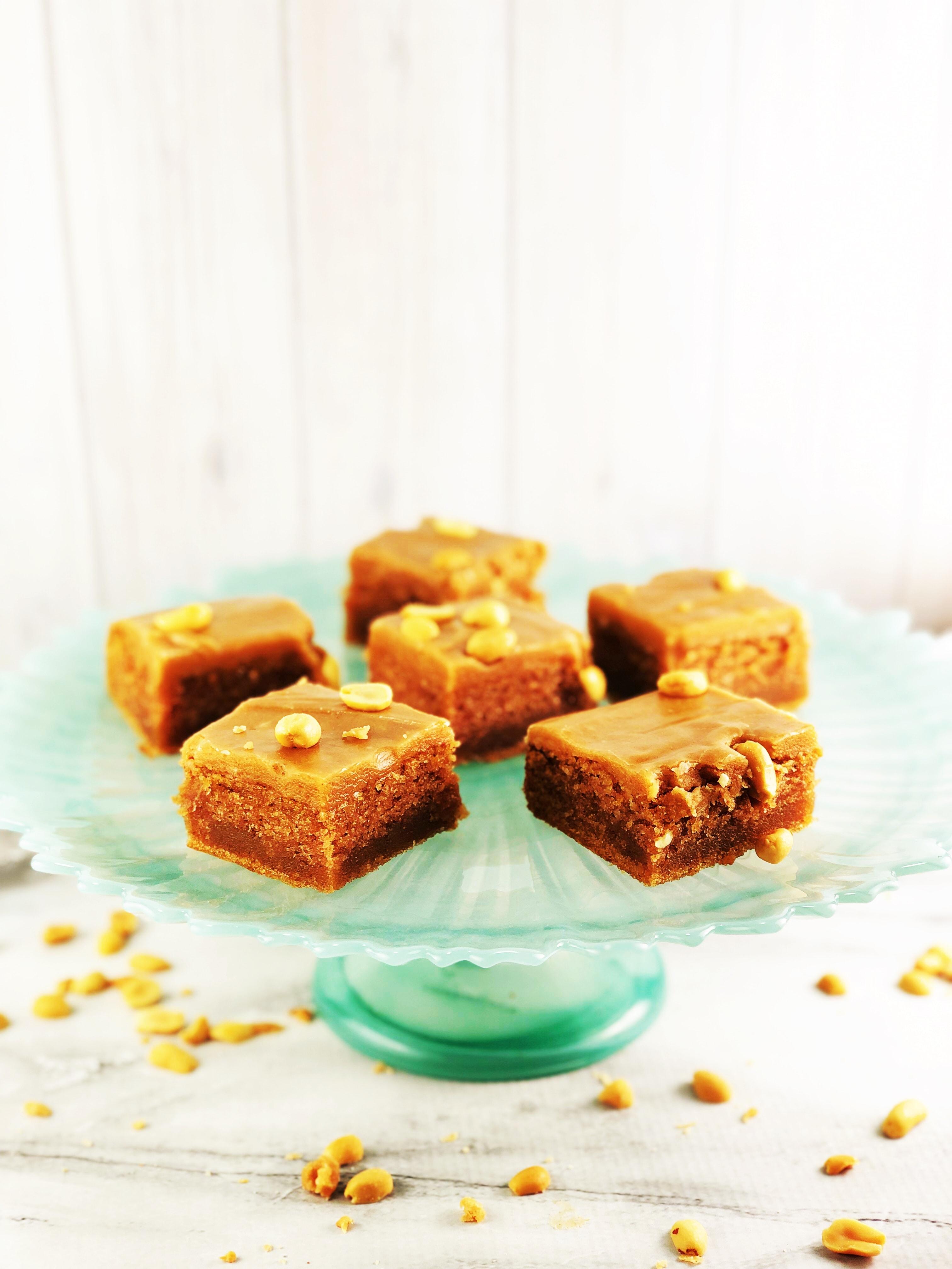 Peanut Butter Cake Slices