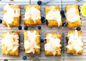 Homemade Blueberry Pop Tarts with Lemon Glaze