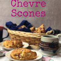 Rhubarb Chevre Scones