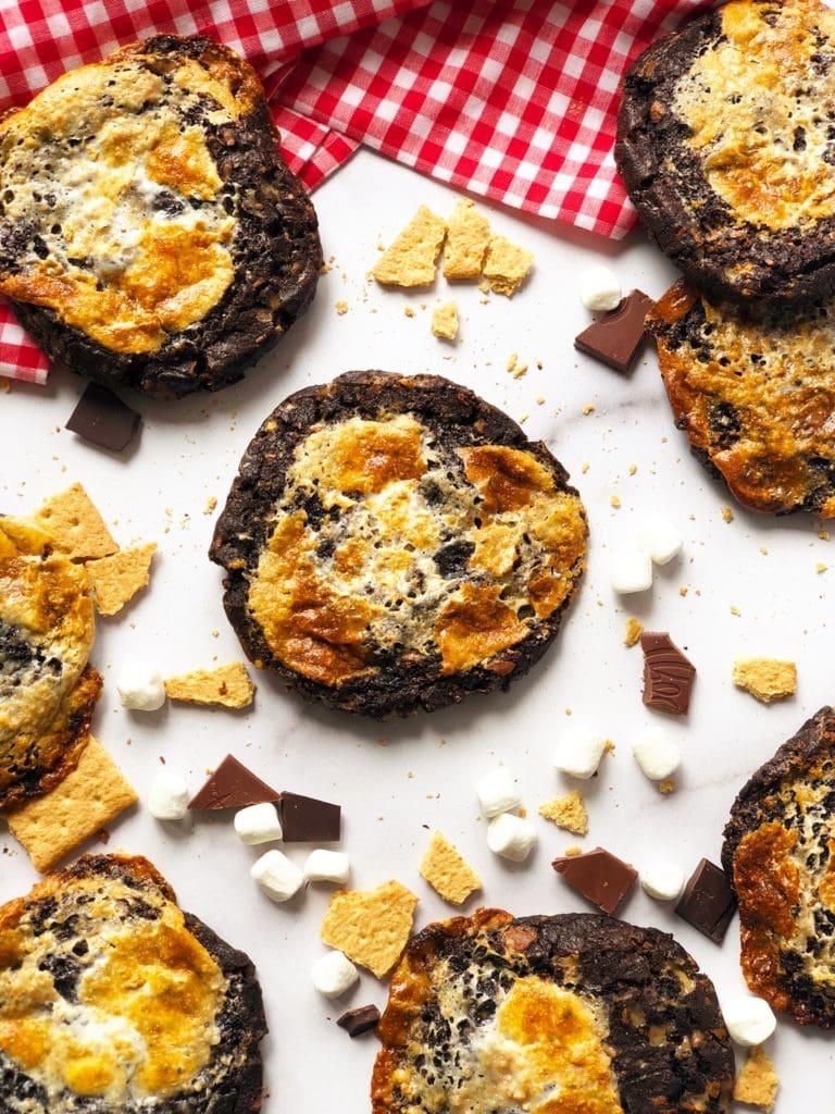 Chocolatey S'mores Cookies
