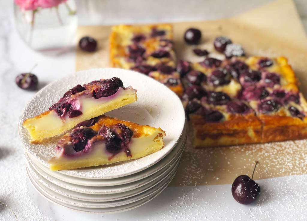 Cherry Clafoutis Bars