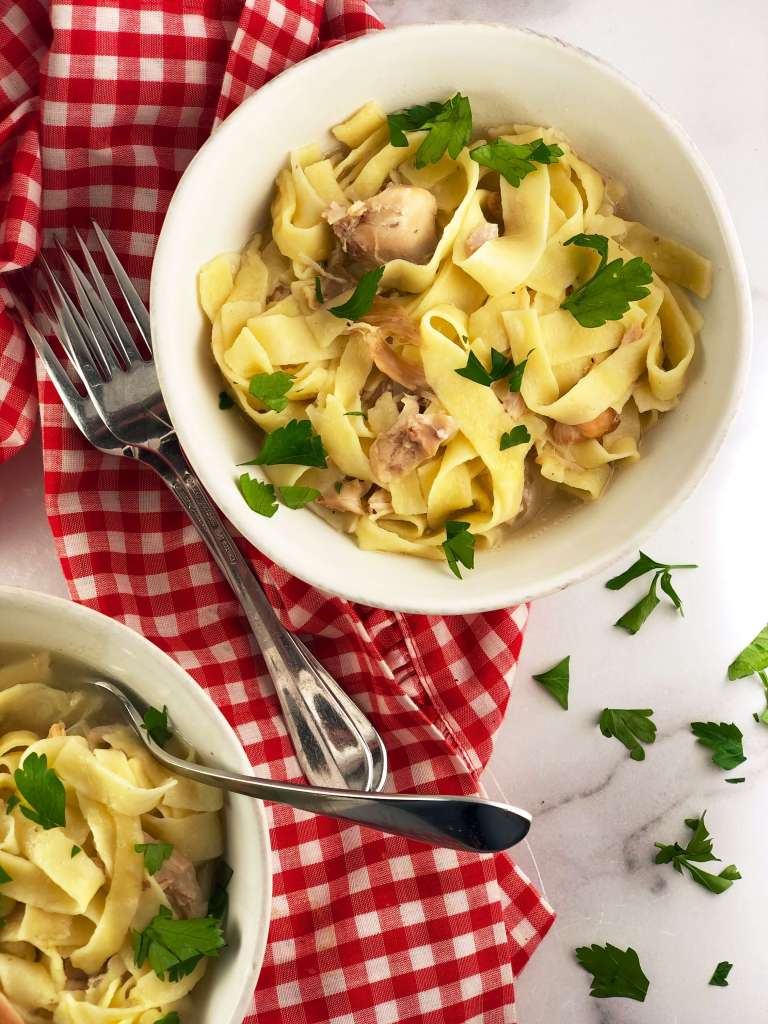 Chicken and Egg Noodles recipe