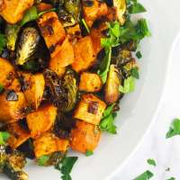 Roasted Balsamic Thanksgiving Vegetables