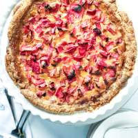 Easy Rhubarb Custard Pie