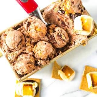 No Churn Chocolate S'mores Ice Cream