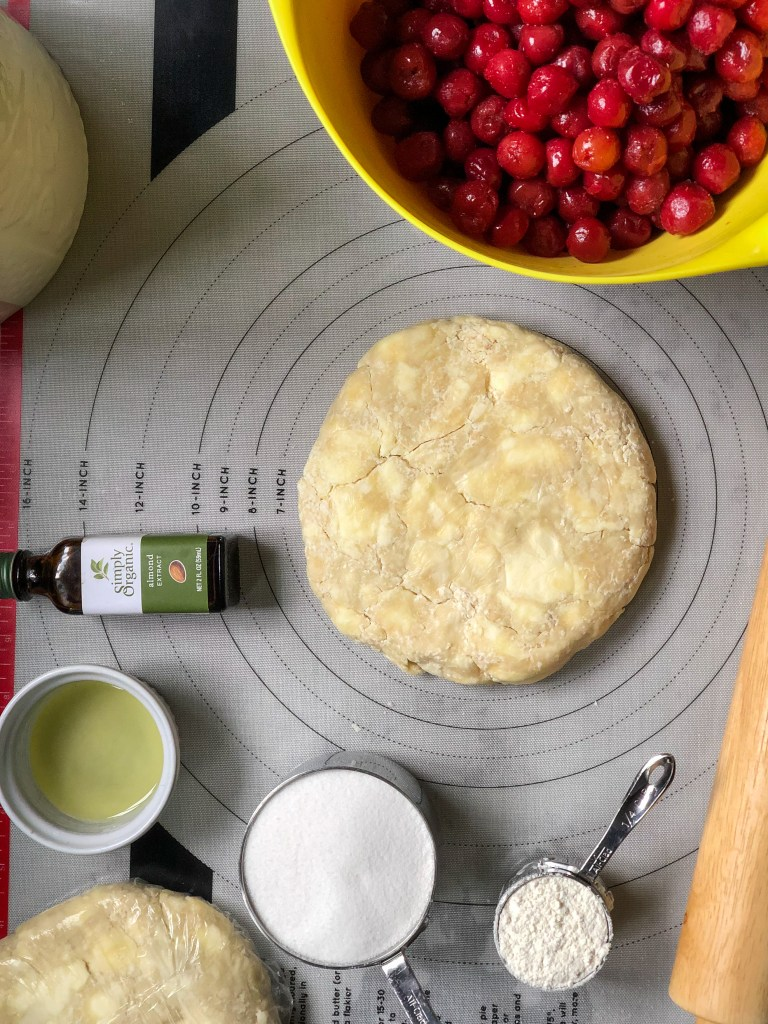 Shows ingredients for Sour Cherry Pie