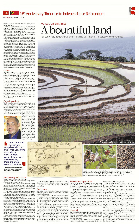 Singapore Straits Times - The Hummingfish Foundation