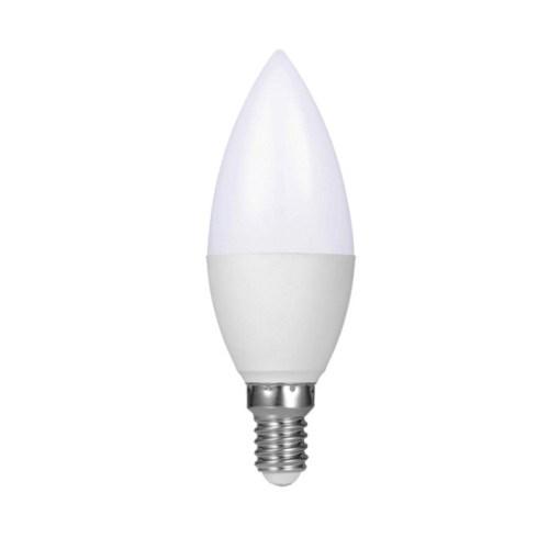 ΛΑΜΠΑ LED CANDLE E14 5W 3000K 450LM Φ37Χ105ΜΜ  C37-E14-5W