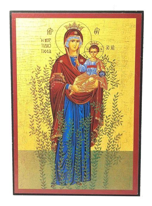 ΕΙΚΟΝΑ  ΠΑΝΑΓΙΑ Η ΜΥΡΤΥΔΙΩΤΙΣΣΑ ΙΗΣΟΥΣ ΧΡΙΣΤΟΣ 20Χ14CM PMX-162-413