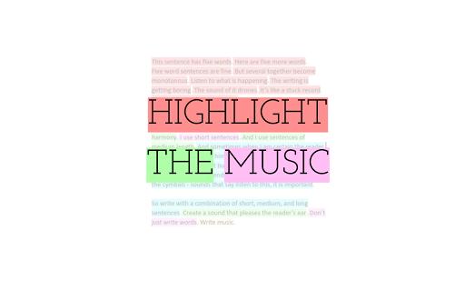 Highlight The Music